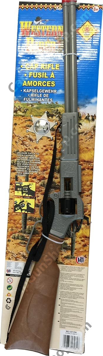 Halsall Western Rider 8 Shot Rifle with Badge
