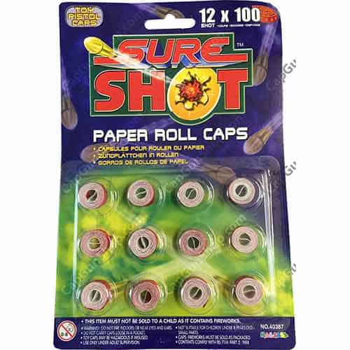 Sure Shot 100 Shot Caps 1200