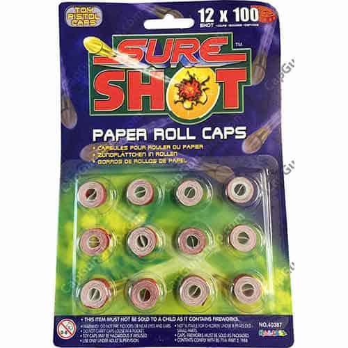 Sure Shot 100 Shot Caps 1200