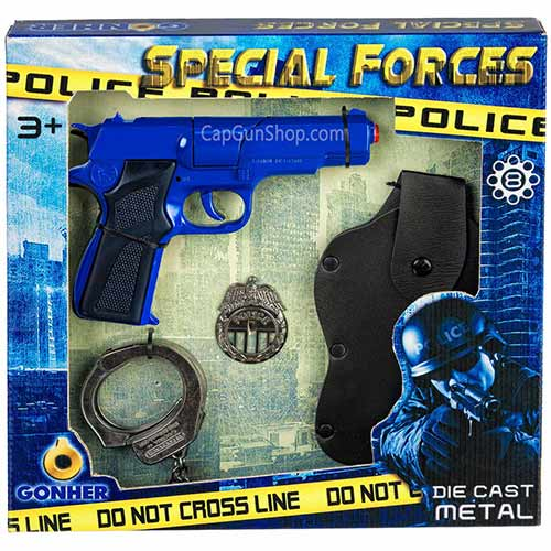 Gonher Special Forces 4 Piece Cap Gun Box Set