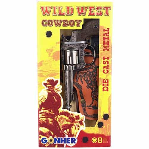 Gonher Wild West 8 Ring Shot Cap Gun with Holster Box