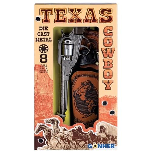 Gonher Texas Cowboy 8 Ring Shot Cap Gun with Holster