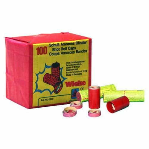 Wicke 100 shot caps paper roll box