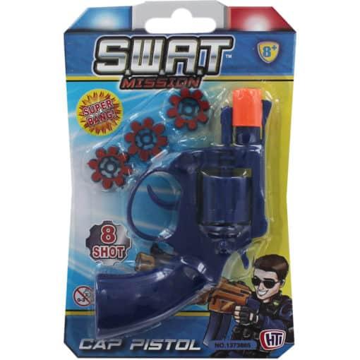 Swat Pistol 8 Ring Shot Cap Gun